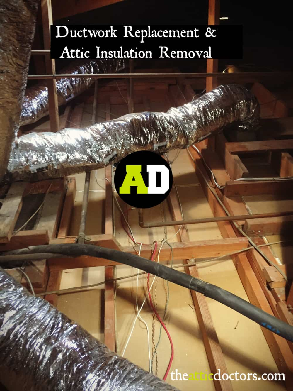 professional attic cleaning insulation removal and replacement service orange county brea